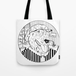 Wall Street Dog Tote Bag