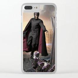 X-Men: Sentinel Diorama Series III (Magneto) Clear iPhone Case