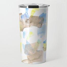 180515 WATERCOLOUR ABSTRACT WP 18| Watercolor Brush Strokes Travel Mug