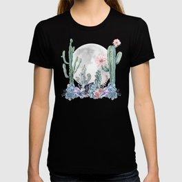 Desert Nights Gemstone Oasis Moon Purple T-shirt
