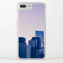 New York City Manhattan skyline panorama Clear iPhone Case