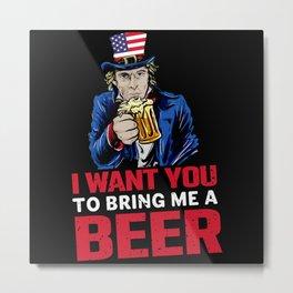 America USA Independence Day Gift Metal Print