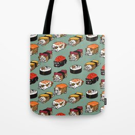 Sushi English Bulldog Tote Bag