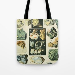 Vintage Minerals Chart Tote Bag