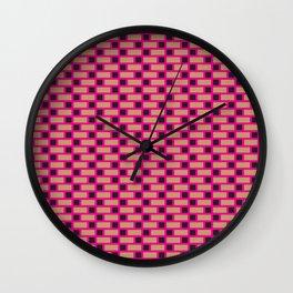 Brick (Pink, Brown, and Black) Wall Clock