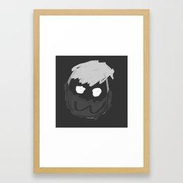 Mew Face mask Framed Art Print