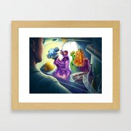 Kidnapping story Framed Art Print