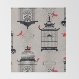 Kiss Empty Brid Cages Throw Blanket