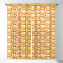 ZS AD Hex Bee 2.1.1 S6 Sheer Curtain