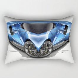Blue Car 001 Rectangular Pillow