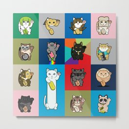 Lucky Cats - LOLcats Metal Print