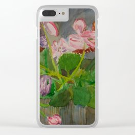 Felicity House Arrangement Clear iPhone Case