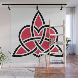 Triquetra Knot With Heart Symbol Wall Mural