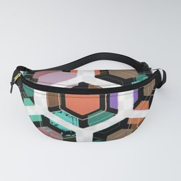 Hex Dive Pattern Fanny Pack