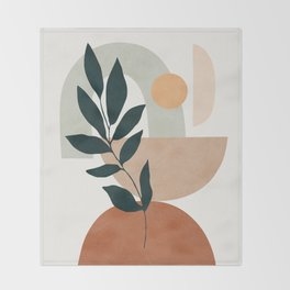 Soft Shapes IV Throw Blanket