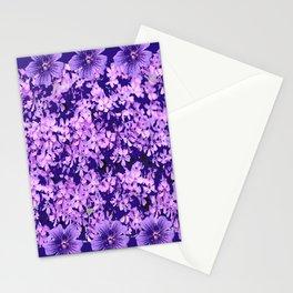 LILAC PURPLE SPRING PHLOX FLOWERS CARPET Stationery Cards