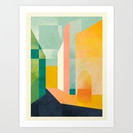passing by Art Print