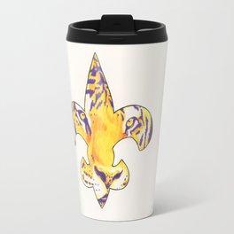 Fleur De Lis LSU Tiger Travel Mug