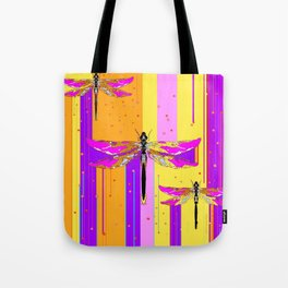 Purple-fuchsia  Dragonflies  Dreamscape Absract Tote Bag