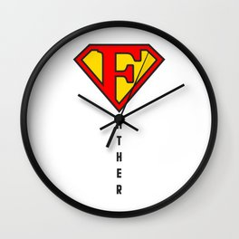 happy father day t-shirt Wall Clock