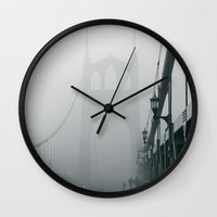 marc johns Wall Clocks featuring Grey St. Johns by Cameron Booth
