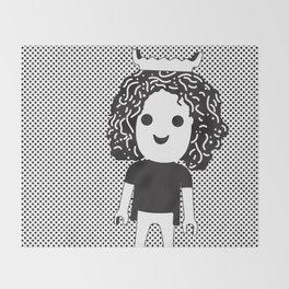 Humanoid stories #happy Throw Blanket
