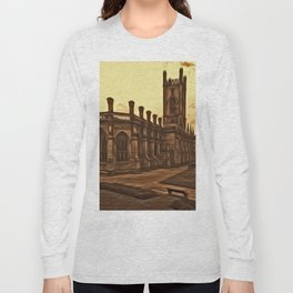 WW2 Bombed out Church Liverpool (Digital Art) Long Sleeve T-shirt