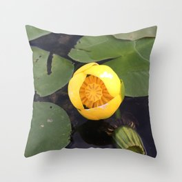 Naturals by Nikki - Yellow Water Lily Throw Pillow
