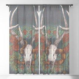 Winter Wreath Sheer Curtain