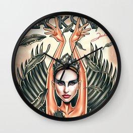 Nina Sayers - Black Swan Wall Clock
