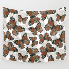 Peacock butterfly pattern Wall Tapestry