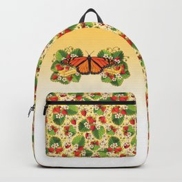 Monarch Butterfly with Strawberries Backpack