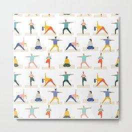 Yoga Pattern | Yoga Namaste Health Meditation Yogi Metal Print