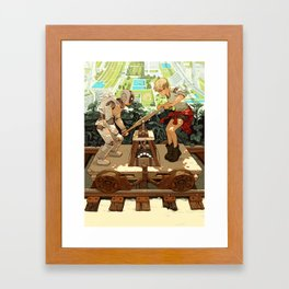 """""""Don't Worry, Smart Machines Will Take Us With Them"""" by Sachin Teng for Nautilus Framed Art Print"""