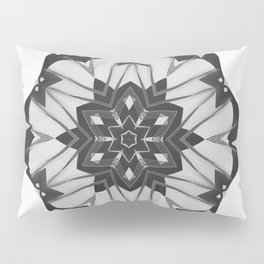 Grunge Christmas Snowflake Pillow Sham