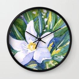 Tropical Flower Watercolor Wall Clock