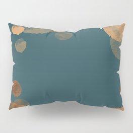 Metal Copper Dots on Emerald Pillow Sham
