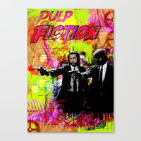 pulp fiction Canvas Prints featuring Pulp Fiction  by Zoé Rikardo