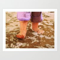 Muddy Feet Art Print