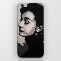 audrey iPhone & iPod Skins featuring Audrey by AUSKMe2Paint