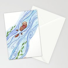 Sea Otter In Love Stationery Cards