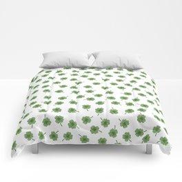 Light Green Clover Comforters