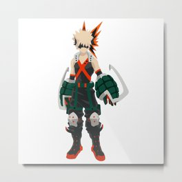Boku no Hero - Bakugou Metal Print