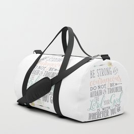 Joshua 1:9 Christian Bible Verse Typography Design Duffle Bag