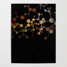 Metallic Molecule Poster