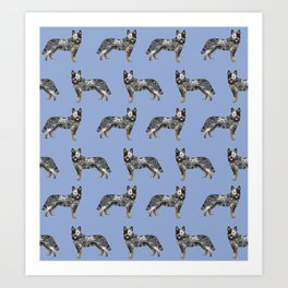 Australian Cattle dog must have gifts for cattle dog owners dog breed pet friendly unique dog art Art Print