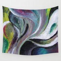 reassurance Wall Tapestries featuring Art print- swirl by Magdalena Hristova