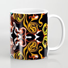 psychedelic Pattern red orange and gold Coffee Mug
