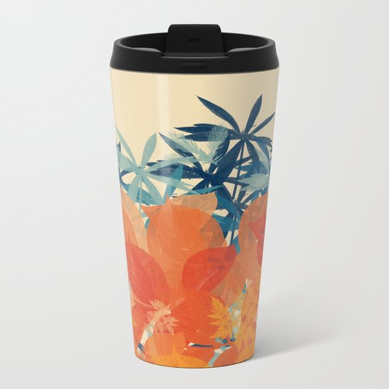 Floral 3 Metal Travel Mug