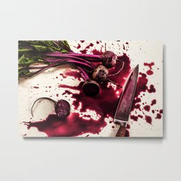Beets on the Table Metal Print